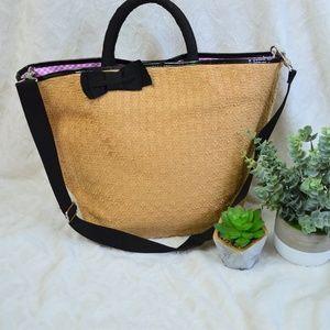 Bath and Bodyworks Straw Shoulder Bag